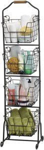 4-Tier Metal Standing Fruit/kitchen organizer racks