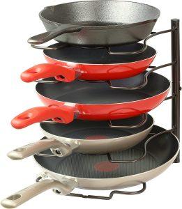 Kitchen Cabinet Pantry Pan and Pot Lid Organizer Rack Holder