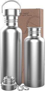 TRIPLE TREE 26 OZ Uninsulated Single Walled Stainless Steel Sports Water Bottle