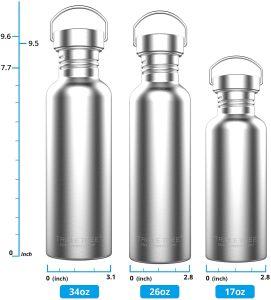 TRIPLE TREE 34 OZ Stainless Steel Sports Water Bottle