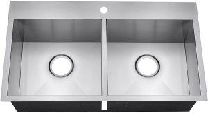 Top mount Double Bowl Drop In Kitchen Sink