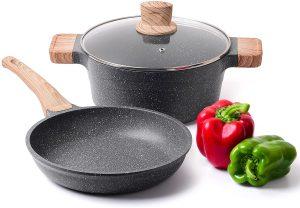 Caannasweis best non-stick stone frying pan